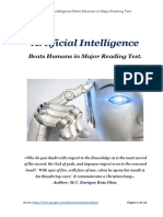 A. I. vs Humans in Major Reading Test