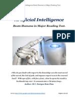 A. I. vs Humans in Major Reading Test