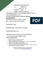 Ficha de Evaluacion Nutricional