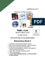Talk a Lot Elementary Book 3 Final Version 16032010