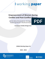WP34 Empowerment Women During Conflict PostConflict Phases Role of Humanitarian Aid Organizations