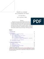 Modelos No Estandar de La Aritmetica de Peano