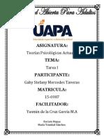 Actividades de La Tarea I