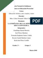 Resumen La Enseñanza de Las Artes en La Educación Básica