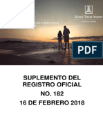 RO# 182 - S Reformar La Resolución No. NAC-DGERCGC16-00000443 Publicada en El SRO No. 874 de 01 de Noviembre de 2016 (16 Feb. 2018)