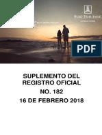 RO# 182 - S a Los Sujetos Pasivos Del Impuesto a La Renta Y Del Impuesto Al Valor Agregado (IVA) (16 Feb. 2018)