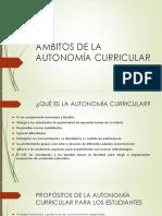 Ámbitos de La Autonomía Curricular (1)