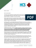 Parent Notification Letter for Testing
