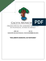 Reglamento Municipal de Panteones