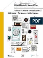 Módulo Capacitación RASE Géneros y Formatos Radiofónicos