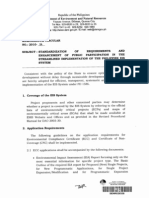 MC 2010-14 – Standardization of Requirements and Enhancement of Public Participation in the Streamlined Implementation of the Philippine EIS System