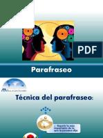 Herramientas de La Mediacion Parafraseo y Reencuadre