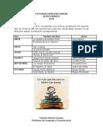 Lecturas Segundo Ciclo 2018