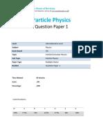 41.1 Particle Physics-cie Ial Physics-qp