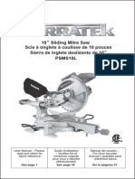 TERRATEK-PSMS10L Sliding Miter Saw Artowrk Manual 110121