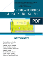 grupo IA metales alcalinos