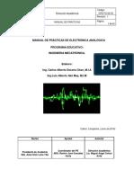 Manual de Prácticas de Electrónica Analógica