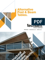 Alternative Post and Beam Tables