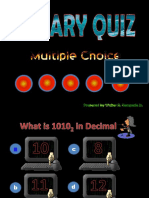 Binary Quiz interactive