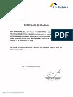 Ejemplo de Certificado de Trabajo - Los Portales