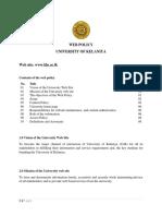 Web Policy University of Kelaniya
