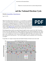 Stock Market and the National Election Cycle - CXO Advisory