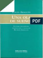 Louis Aragon Una Ola de Suenos. Estudio