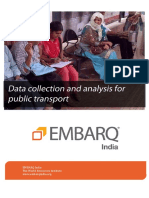Data Collection and Analysis for Public Transport