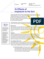 Health Effects of Overexposure to the sun