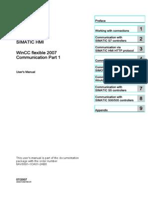 HMI WinCC Flexible Communication Part 1 | Computing | Technology