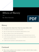 effects of slavery