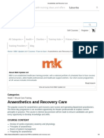 12 Anaesthetics and Recovery Care