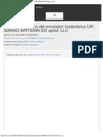 Manual de Usuario Del Enrutador Inalámbrico UR-326N4G WRT300N-DD Upvel, LLC
