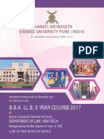 BBA LLB 5 Years Brochure