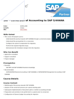 Conversion of Accounting to Sap s4hana