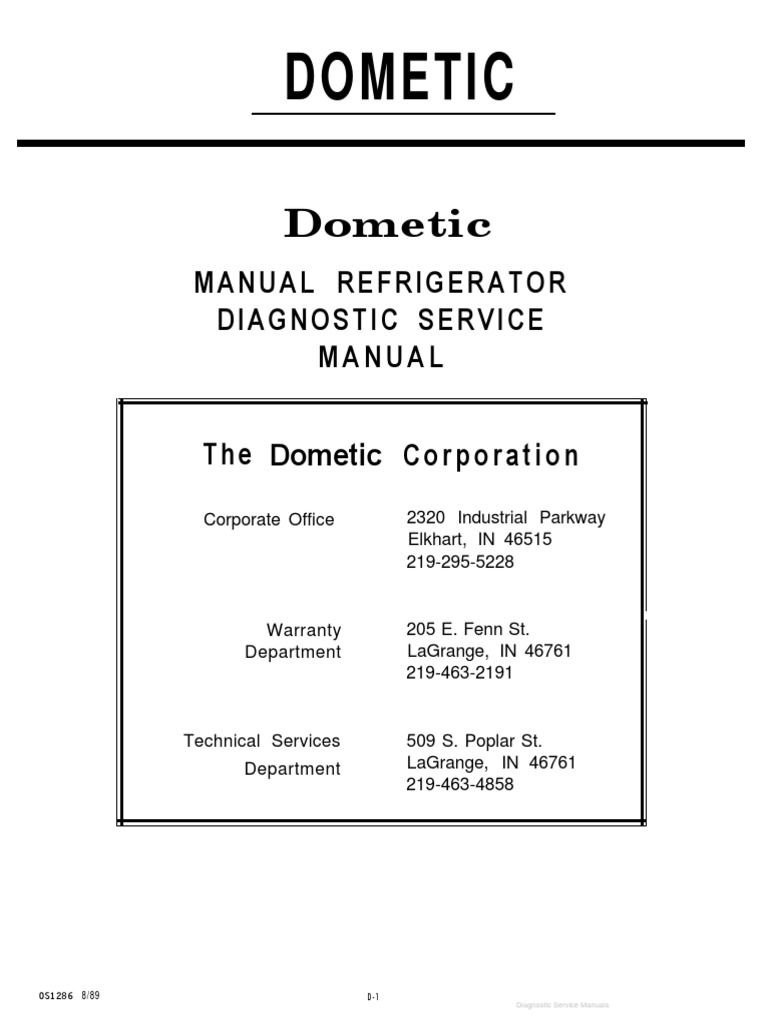 Dometic service manualpdf air conditioning thermostat asfbconference2016 Image collections