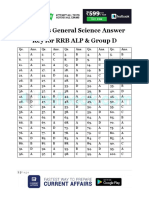 Railways General Science Answer Key for RRB ALP & Group D 2018