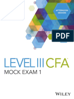 DA4139 Level III CFA Mock Exam 1 Afternoon