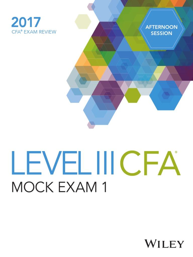 DA4139 Level III CFA Mock Exam 1 Afternoon | Bond Duration