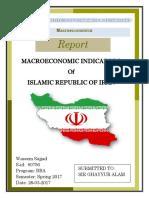 Macroeconomic indicator of Iran