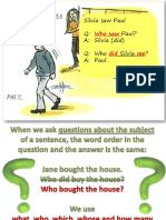 Questions Subject vs Object Fun Activities Games Grammar Drills Grammar Guides 48228