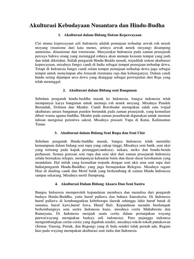 Akulturasi Kebudayaan Nusantara Dan Hindu