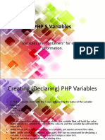 4. PHP 5 Variables