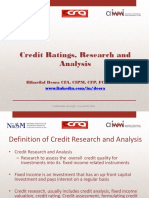 Presentation - Credit Rating Lecture and Careers in Credit Research Jan 2014 - Copy