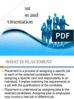 Placement and Induction