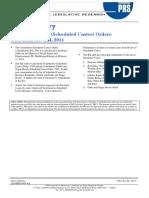 Bill Summary -Constitution SC Order (a) Bill 2014