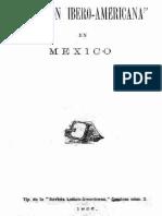 La Unión Ibero Americana en México - 1886.
