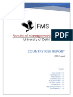 Group 9 Country Risk IFM