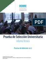 2017 Vol 1 Informe Tecnico Admision 2017