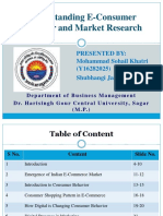 E-consumer Behaviour and Market Research